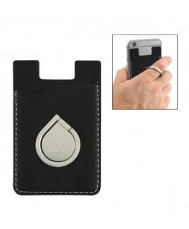 Aluminum Phone Ring And Stand With Phone Wallet