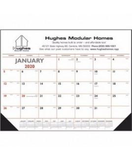 Triumph® Red & Black Desk Pad Calendar w/Vinyl Corners