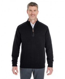 Devon and Jones Men's Manchester Fully-Fashioned Quarter-Zip Sweater