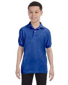 Hanes Printables Youth 50/50 EcoSmart® Jersey Knit Polo