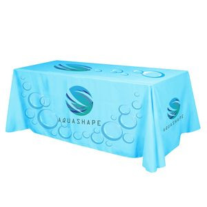 Flat All Over Dye Sub Table Cover - 4-sided, fits 8' table