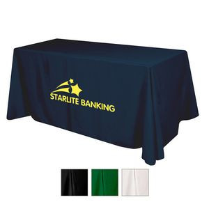 Flat Polyester 3-Sided Table Cover - fits 6' standard table