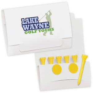 """BIC Graphic® Golf Tee Packet Value Pak w/2 1/8"""" Tees & 2 Ball Markers"""