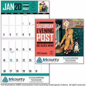 Triumph® The Saturday Evening Post Big Block Memo Calendar