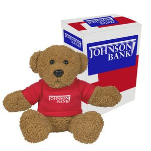 """6"""" Ole' Time Rag Bear With Custom Box"""