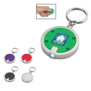 Round LED Key Chain