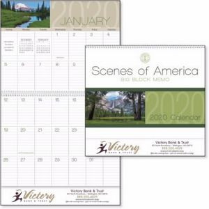 Triumph® Scenes of America Big Block Memo Calendar