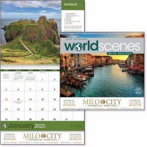 Triumph® World Scenes Calendar w/Recipes