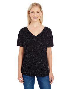 THREADFAST Ladies' Triblend Fleck Short-Sleeve V-Neck T-Shirt