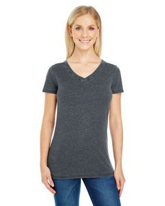 THREADFAST Ladies' Vintage Dye Short-Sleeve V-Neck T-Shirt