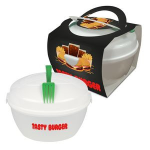 Salad Bowl Set With Custom Handle Box
