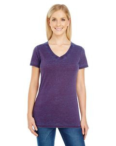 THREADFAST Ladies' Cross Dye Short-Sleeve V-Neck T-Shirt