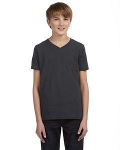 Canvas Youth Jersey Short-Sleeve V-Neck T-Shirt