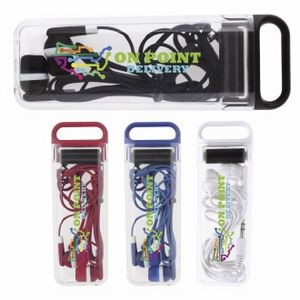Good Value® Earbuds in Clear Case w/Screen Cleaner