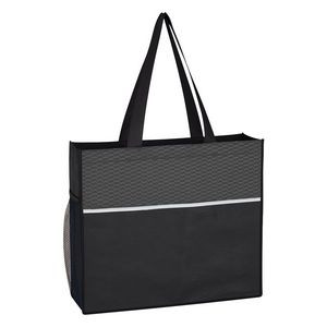 Wave Design Non-Woven Tote Bag