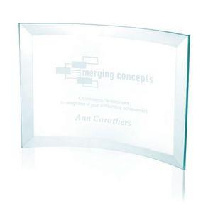Jaffa® Medium Jade Crystal Scroll Award