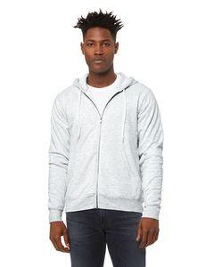 Canvas Unisex Poly-Cotton Fleece Full-Zip Hooded Sweatshirt