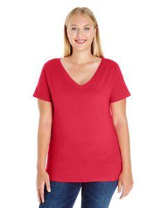 LAT Ladies' Curvy V-Neck T-Shirt