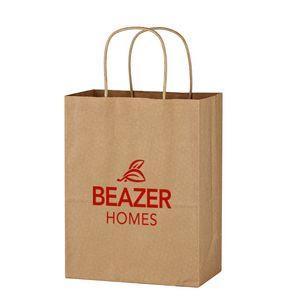 """Kraft Paper Brown Shopping Bag - 8"""" x 10-1/4"""""""