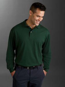 Jerzees Adult SpotShield? Long-Sleeve Jersey Polo