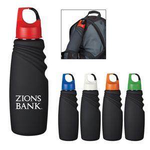 24 Oz. Matte Finish Crest Carabiner Sports Bottle