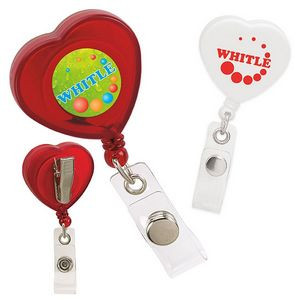 Good Value® Caring Heart Retractable Badge Holder