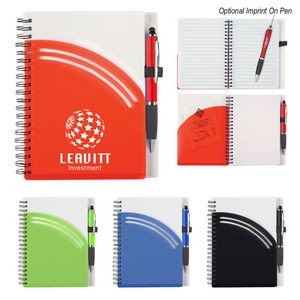 Rainbow Spiral Notebook With Pen