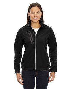 NORTH END Ladies' Terrain Colorblock Soft Shell with Embossed Print