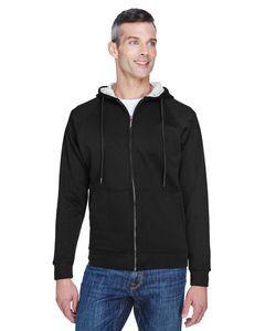 ULTRACLUB Adult Rugged Wear Thermal-Lined Full-Zip Fleece Hooded Sweatshirt