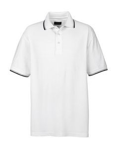 ULTRACLUB Men's Short-Sleeve Whisper PiquéPolo with Tipped Collar and Cuffs