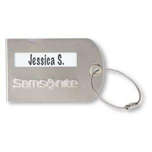 Samsonite Luggage Tag - Silver
