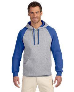 Jerzees Adult NuBlend® Colorblock Raglan Pullover Hooded Sweatshirt