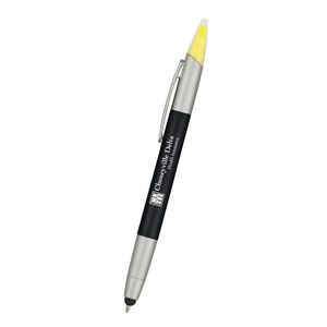 3-In-1 Pen With Highlighter and Stylus
