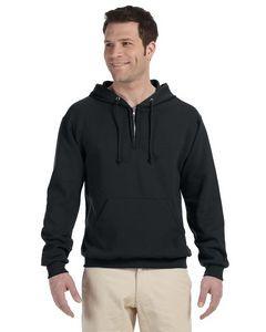 Jerzees Adult NuBlend® Fleece Quarter-Zip Pullover Hooded Sweatshirt