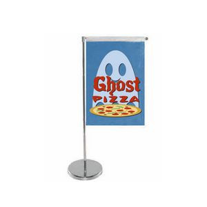 Single Vertical Style Table Top Flag