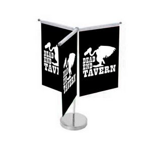 Triple Vertical Style Table Top Flag
