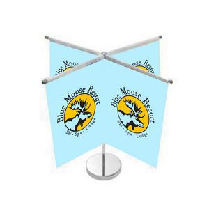 Quad Vertical Style Table Top Flag