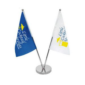 Double Table Top Flags