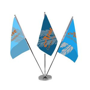Triple Table Top Flags