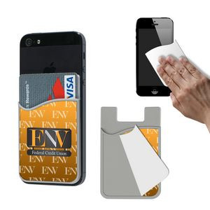 Phone Wallet With Removable Microfiber Cloth
