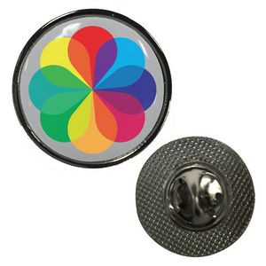 Circle Dome Lapel Pin