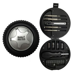 21-Piece Tool Set in Tire Case
