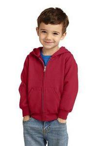 Port & Company® Toddler Core Fleece Full-Zip Hooded Sweatshirt
