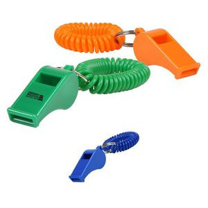 Whistle Key Chain w/Coil Wristband
