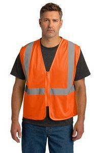 CornerStone® ANSI 107 Class 2 Economy Mesh Zippered Vest