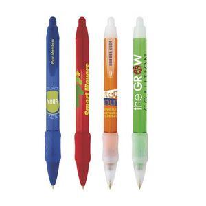 BIC® WideBody® Clear Grip Pen w/Ice Trim