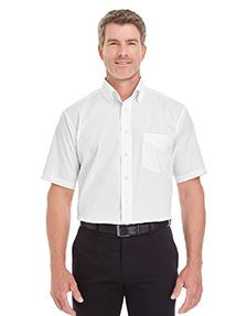 Devon and Jones Men's Crown Woven Collection® SolidBroadcloth Short-Sleeve Shirt