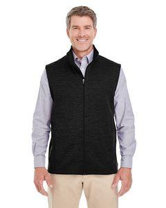 Devon and Jones Men's Newbury MélangeFleece Vest