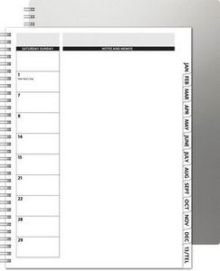 """TheDirector™ Alloy Front Monthly Planner w/Chip Back (8.5""""x11"""")"""