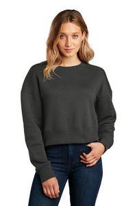District® Women's Perfect Weight Fleece Cropped Crew-Neck Sweatshirt